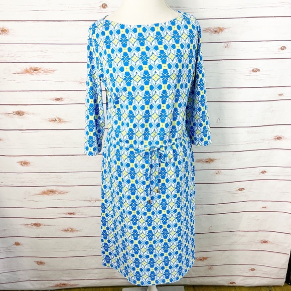 J. McLaughlin Catalina Cloth Blue Marianne Dress